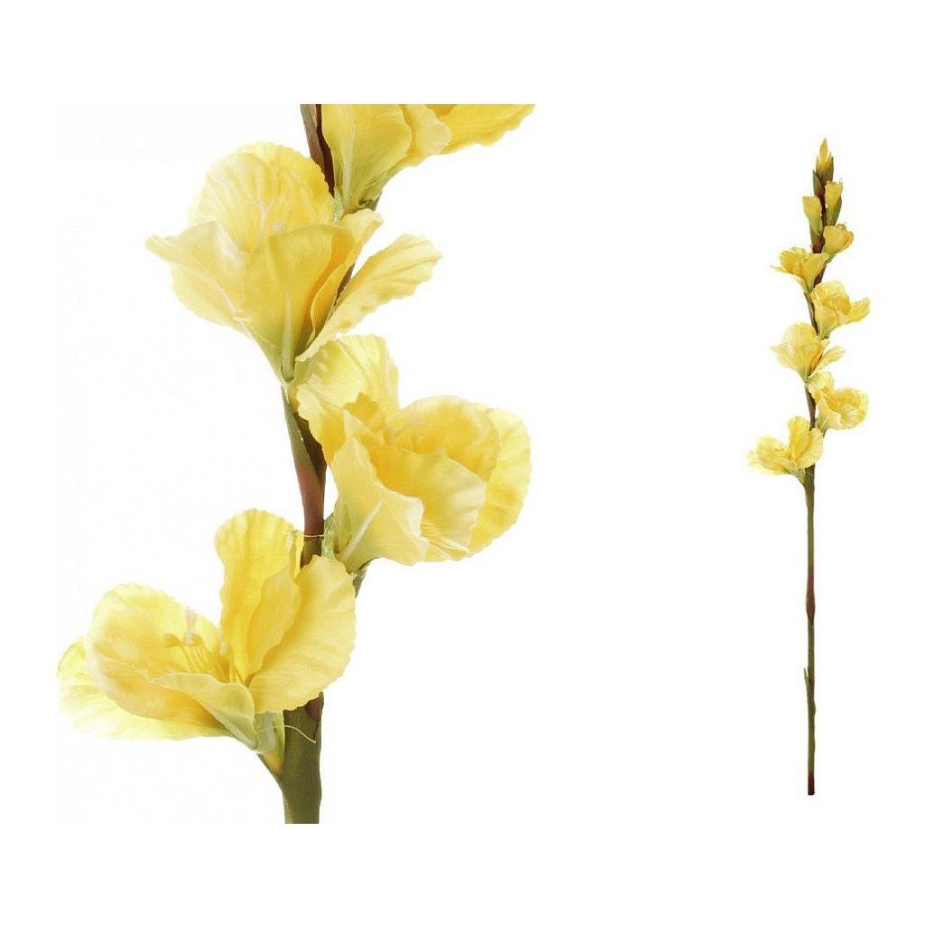 Gladiola barva žlutá květina umělá