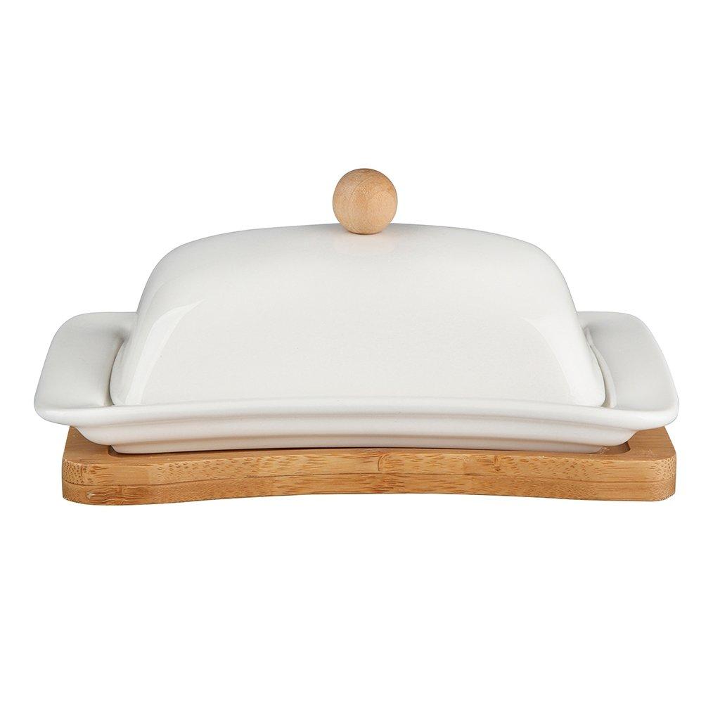 Porcelánová máselnička s bambusem