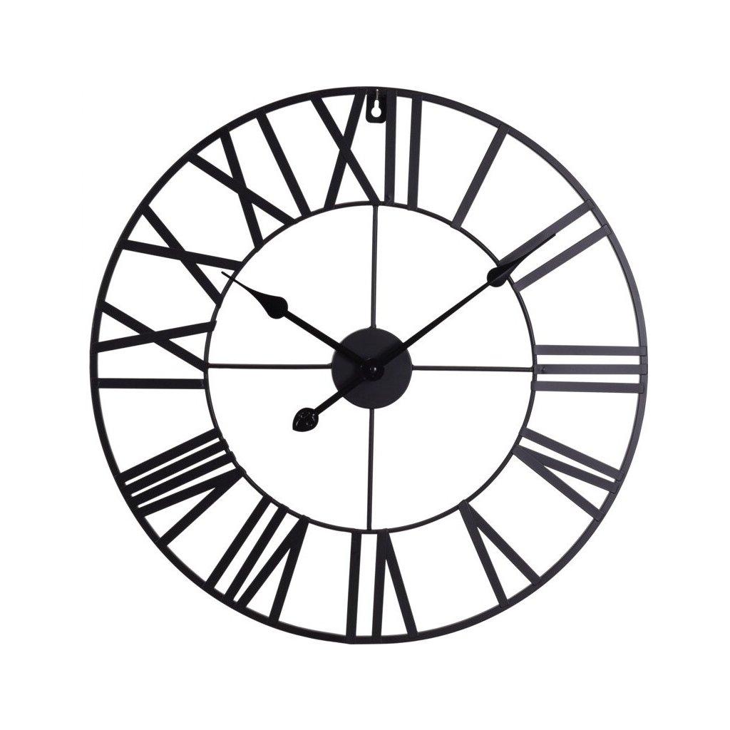 Kovové hodiny Lorain v černé barvě 57 cm