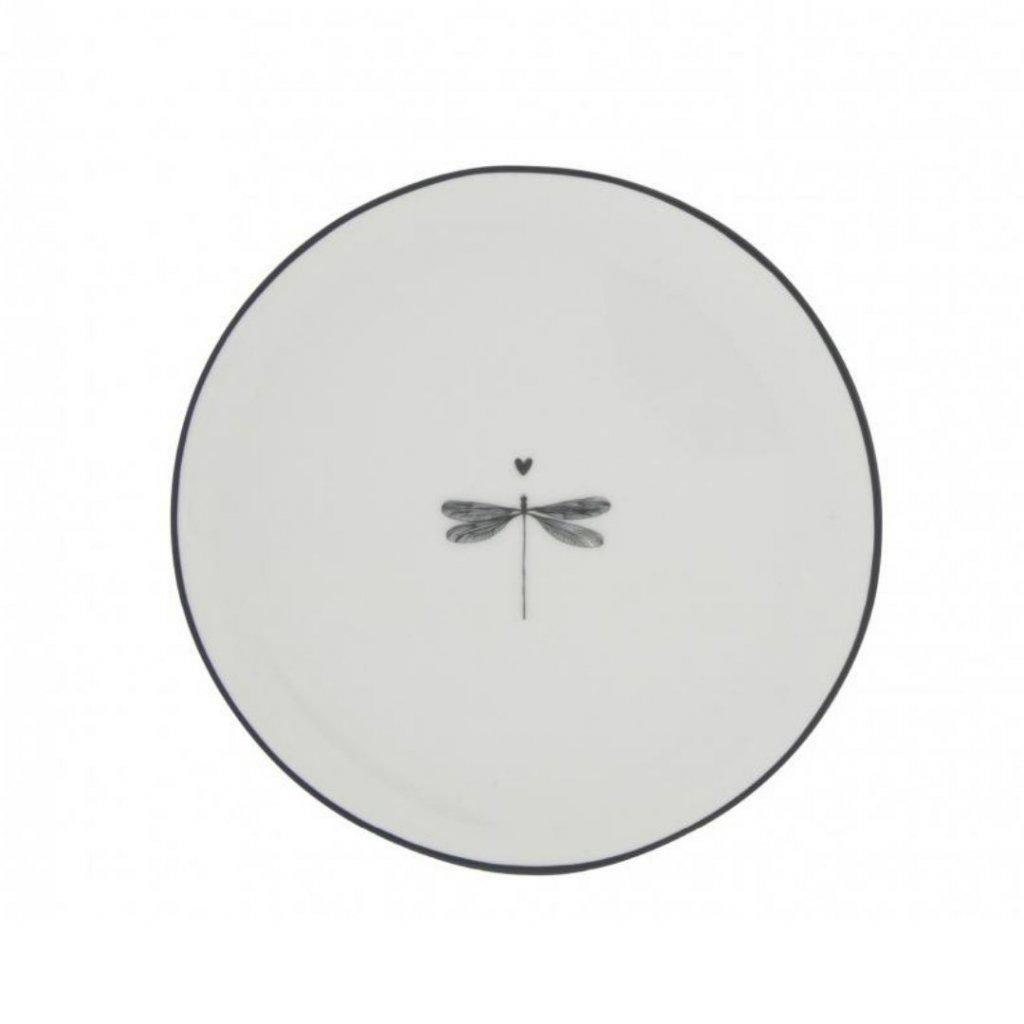 Keramický dezertní talíř 16cm White/Dragonfly