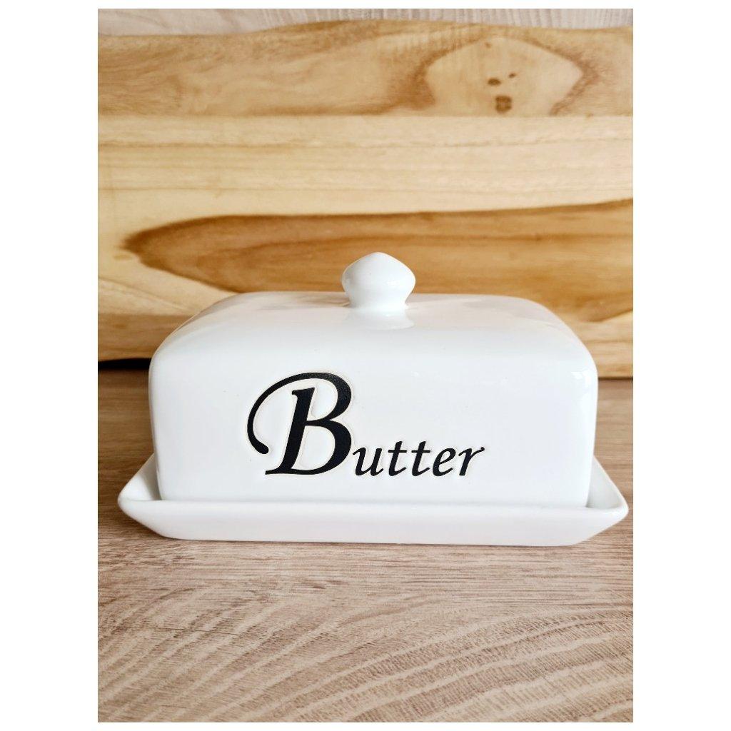Krásná keramická máselnička
