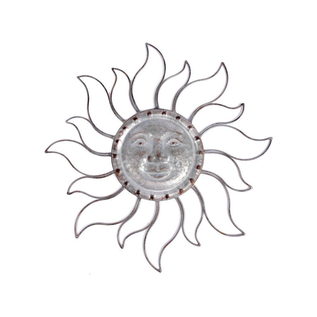 Slunce kovová dekorace na zavěšení