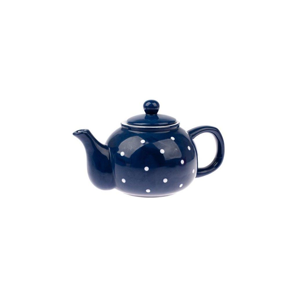 Keramická konvička na čaj modrá