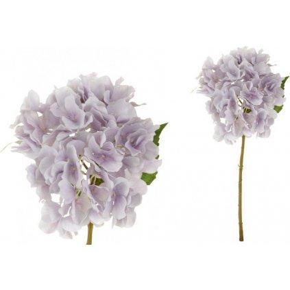 Hortenzie, barva filová světlá. Květina umělá.