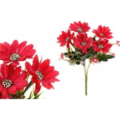 Kapské kopretiny, puget, barva červená. Květina umělá.