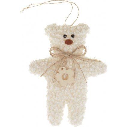 Medvídek látková dekorace na pověšení