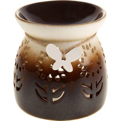 Aroma lampa porcelánová barva hnědo béžová
