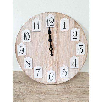 Dřevěné hodiny Charlotte