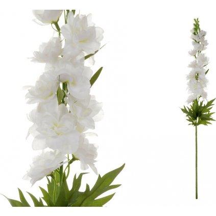 Ostrožka, barva bílá. Květina umělá.