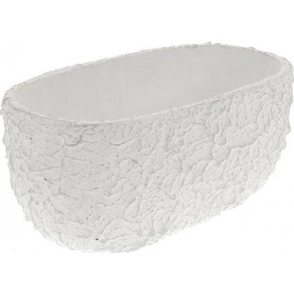 Obal betonový bílý oválný 24,5 cm