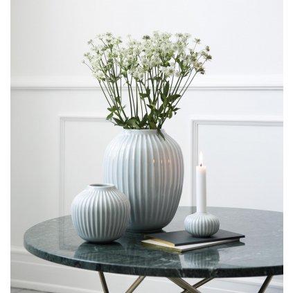 Keramická váza Hammershøi mint 13 cm