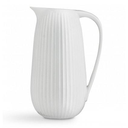 porcelanova dzban kahler bily