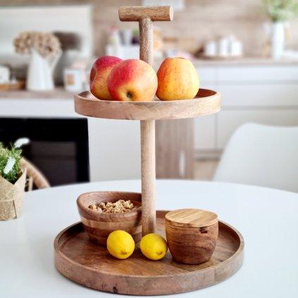 Dřevěný etažér Regin mango