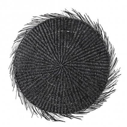Prostírání z mořské trávy Ilsa 38 cm černé