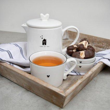 Keramická konvice na čaj bílá Time for Tea 1l