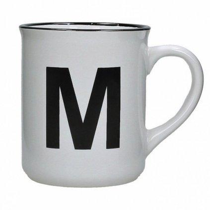 Kameninový hrnek s nápisem M white