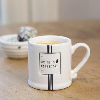 Keramický hrnek White/Home is Espresso