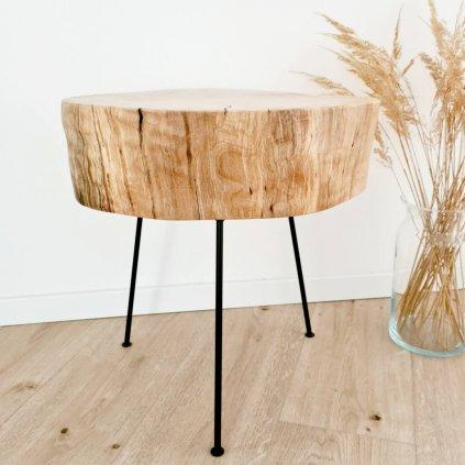 Přírodní stolička ze starého březového dřeva