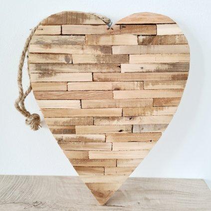 Srdce z dřívek