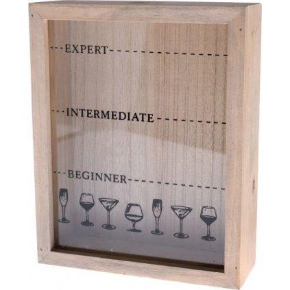 Dřevěná krabička na korkové zátky