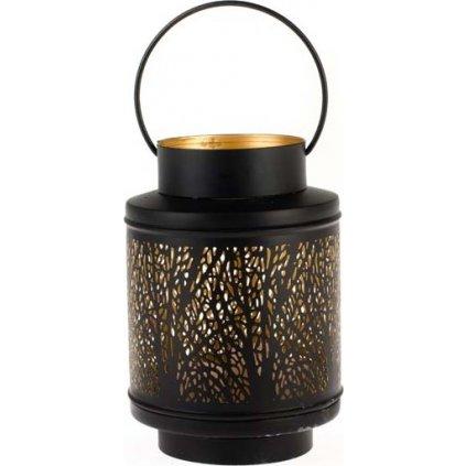 Nádherná kovová lucerna se vzory černá