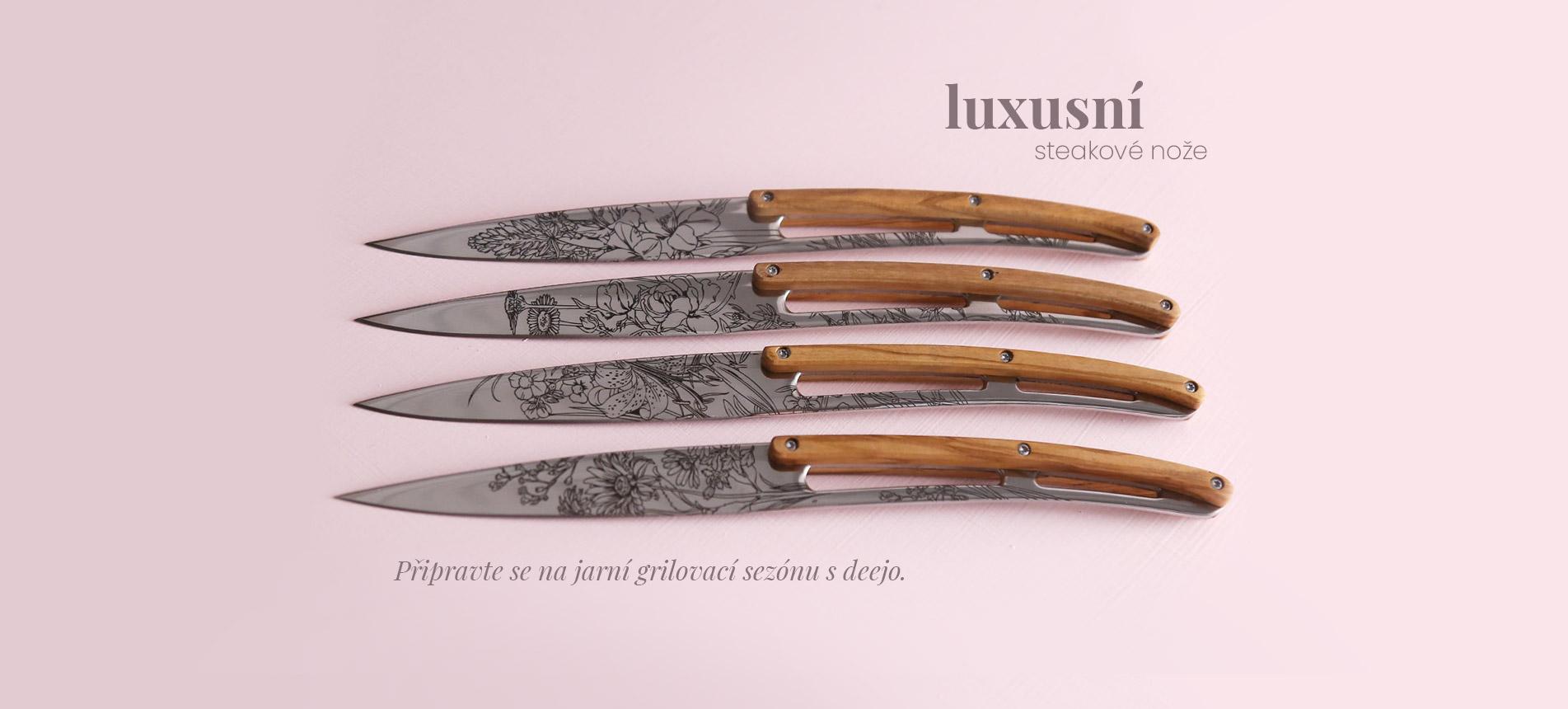Luxusní steakové nože deejo