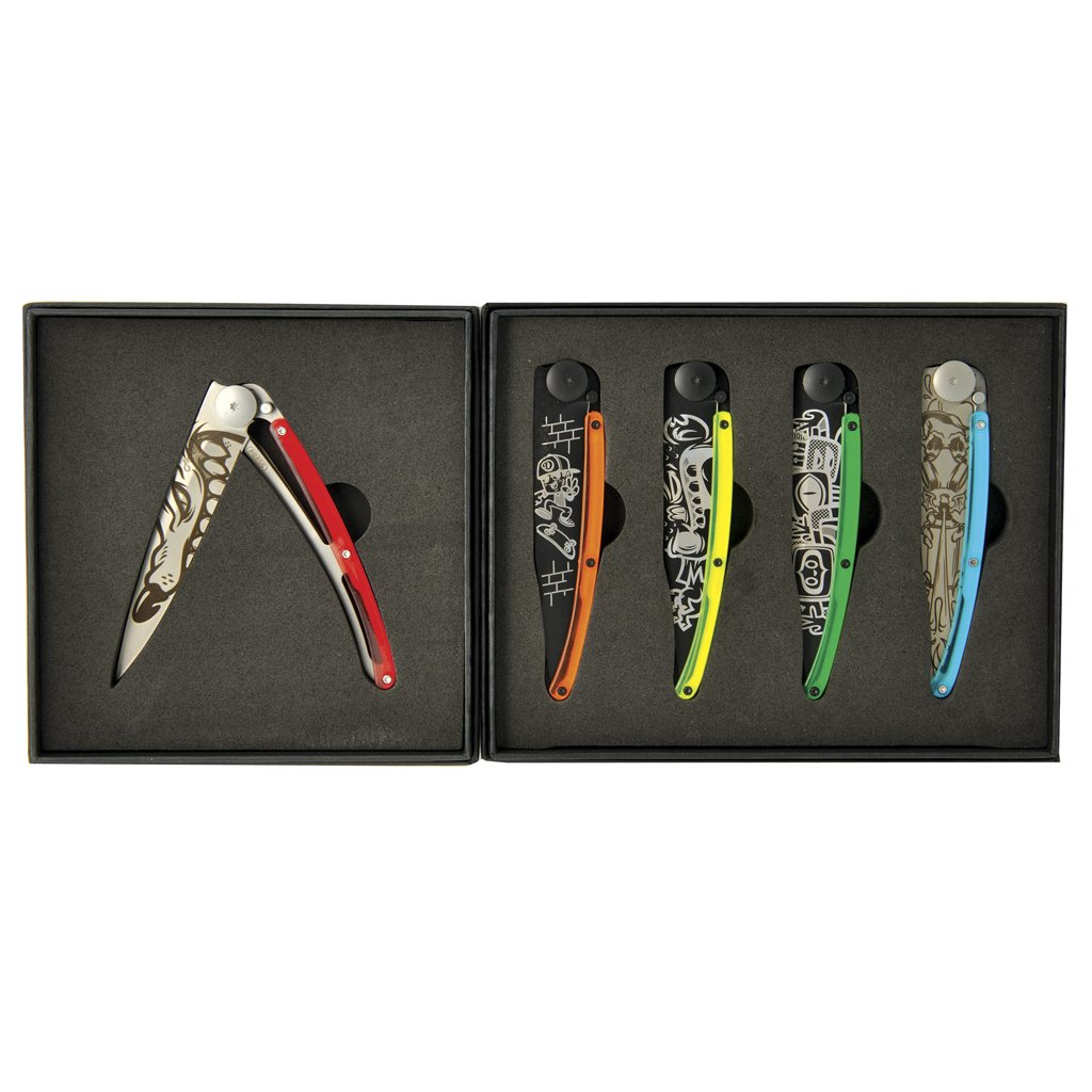 Sada kapesních nožů Deejo Tattoo Street 37g