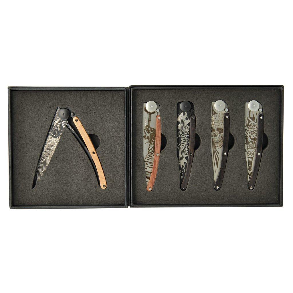 Sada kapesních nožů Deejo Tattoo Biker 37g