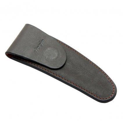 Kožené pouzdro  na opasek pro nože 37g Deejo mocca