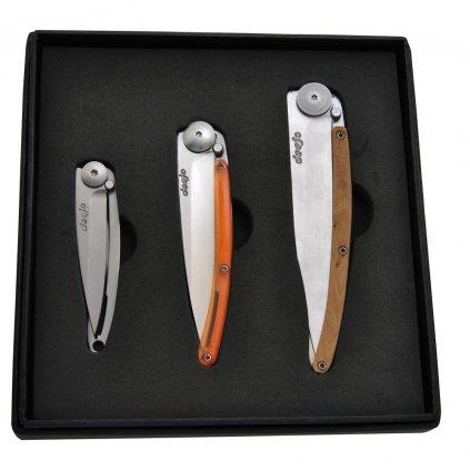 Sada kapesních nožů Deejo Touch and Feel 15g 27g 37g