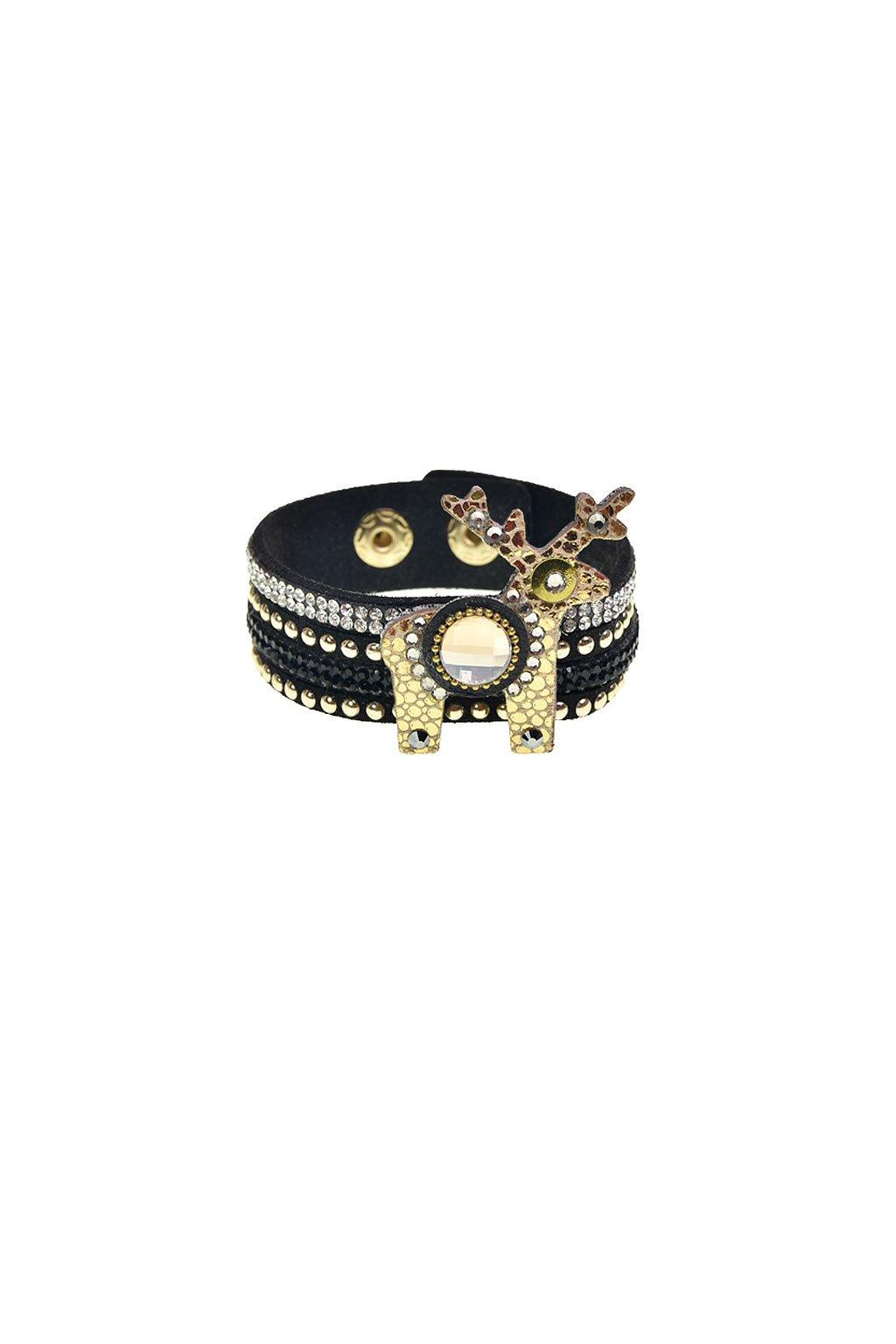 Malinový jelení náramek
