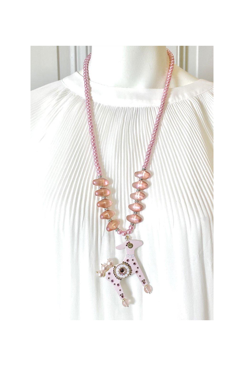 Zlatý náhrdelník s mini jelínkem