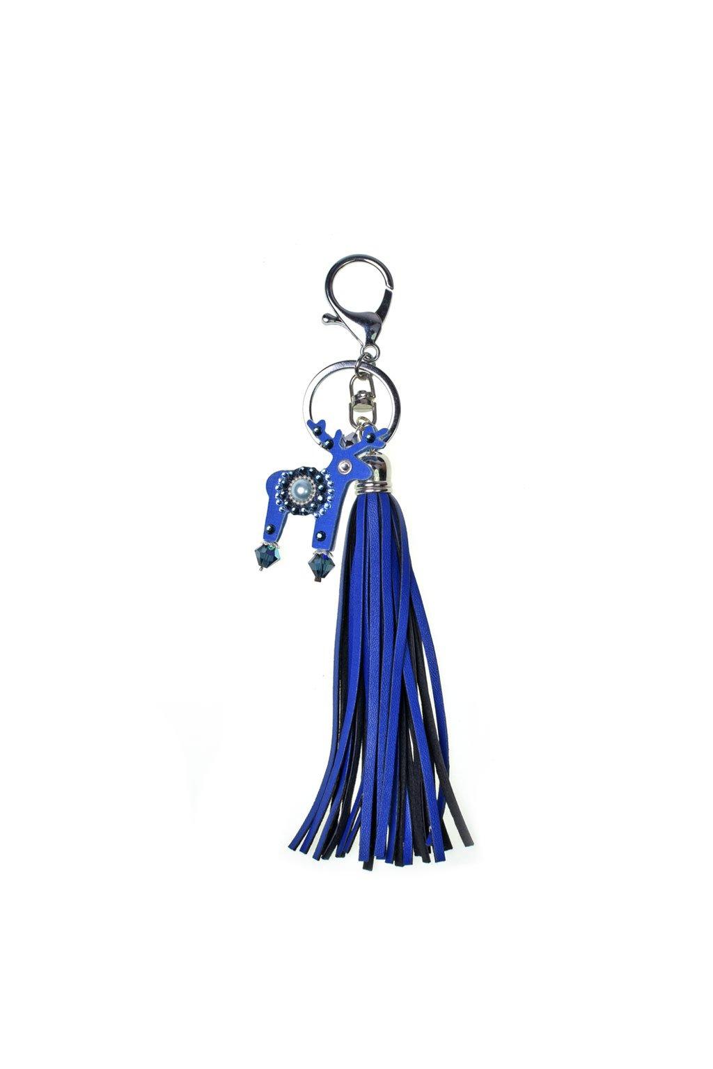 Růžový přívěšek na kabelku