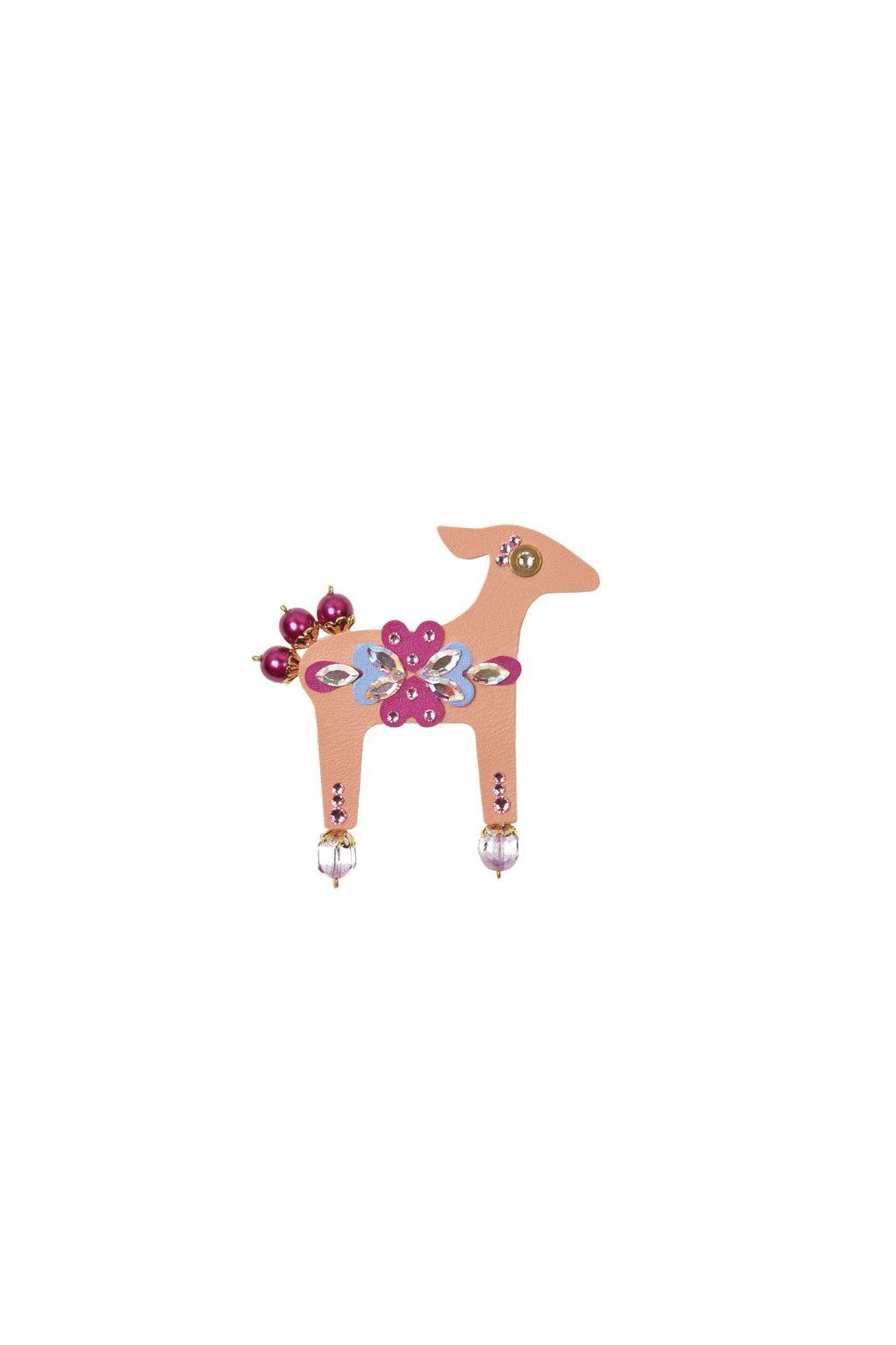Jemně mentolová jelení brož