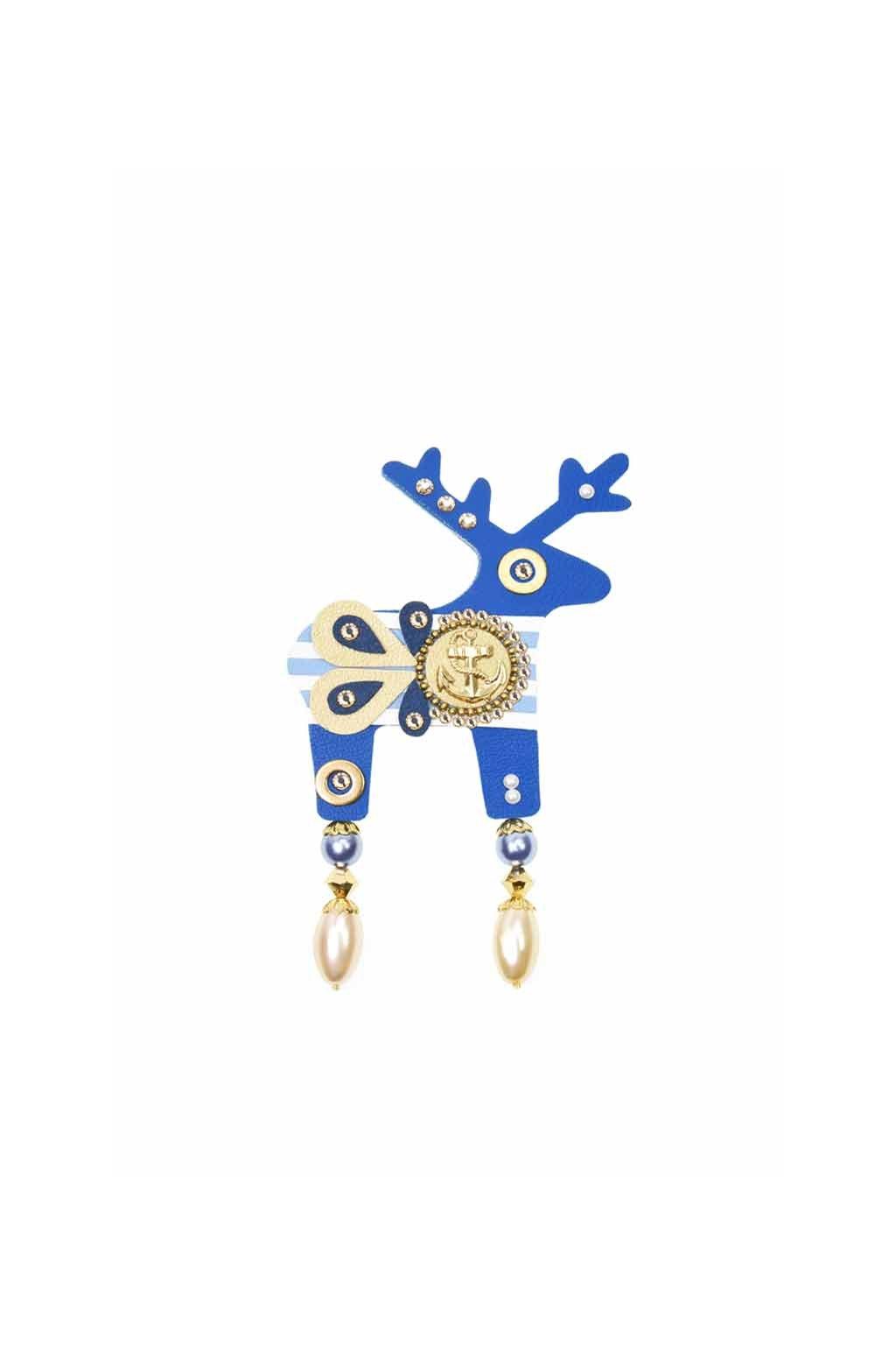 Modrá jelení brož
