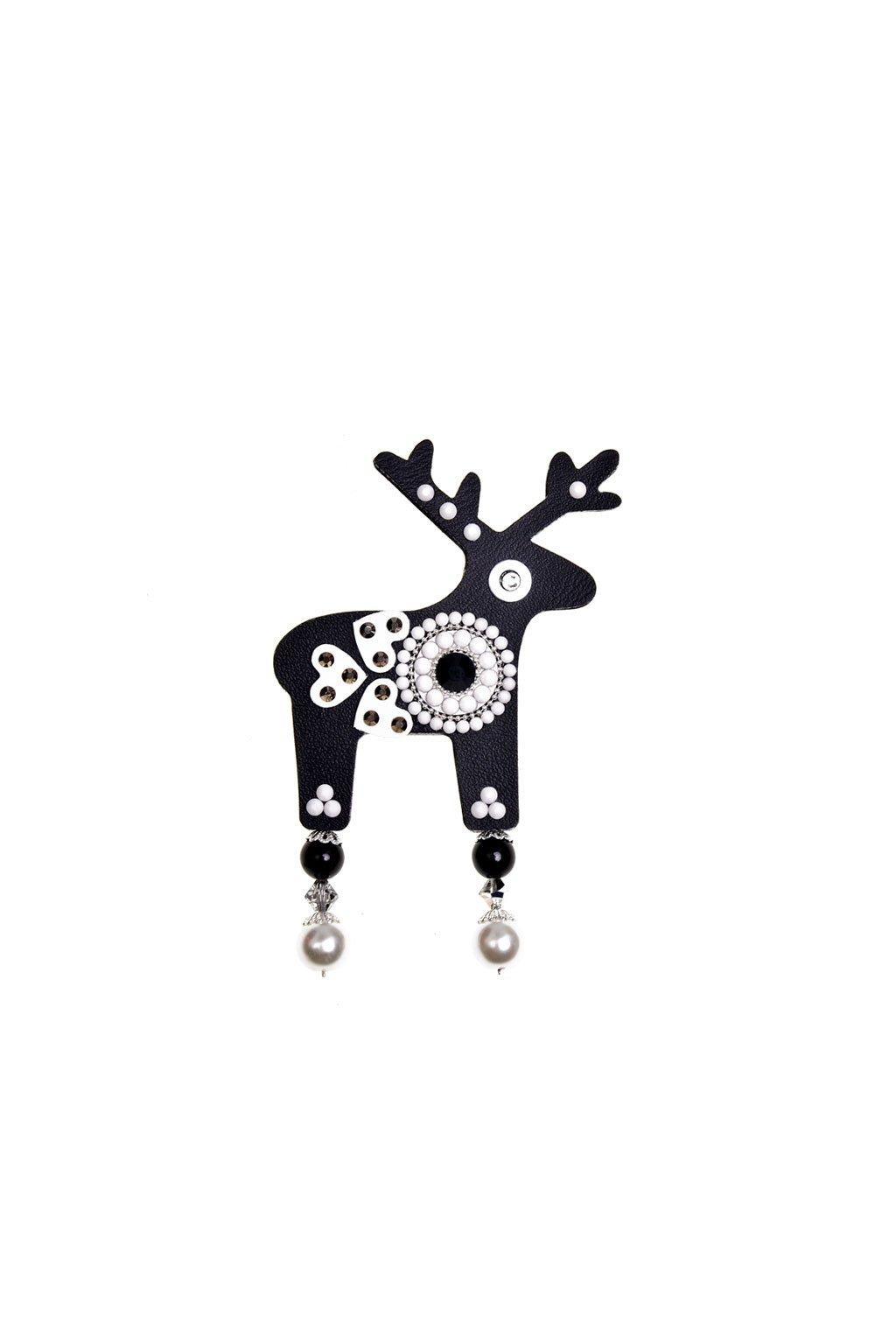 Oranžová jelení brož