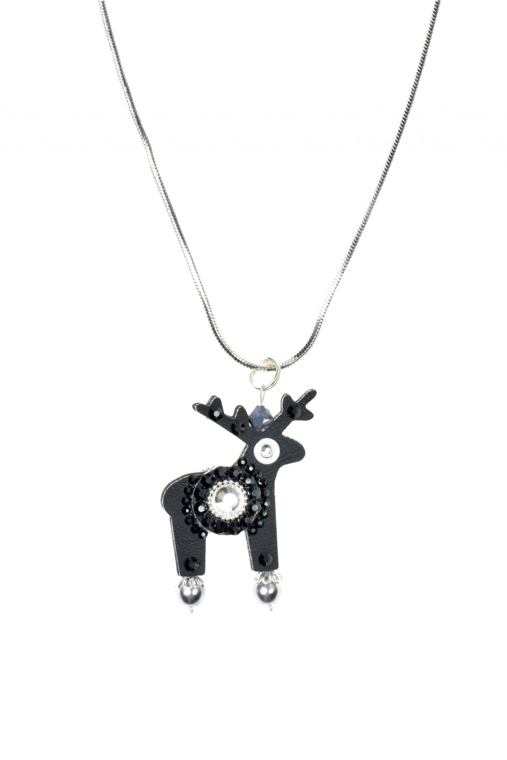 Černý jelení náhrdelník