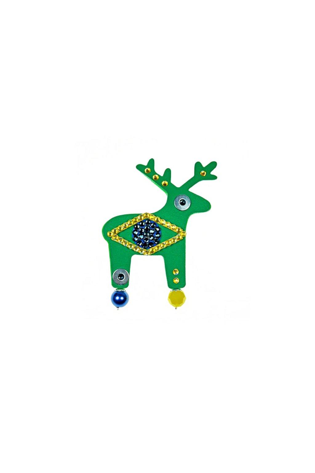Zelená jelení brož