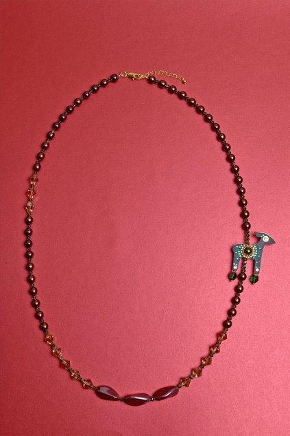 Stříbrný jelení náhrdelník