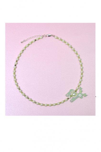 Duhový mini jelínek na náhrdelníku