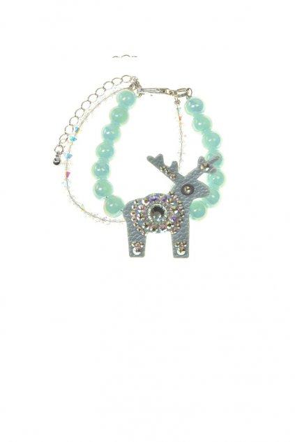 Světle růžový jelení náramek