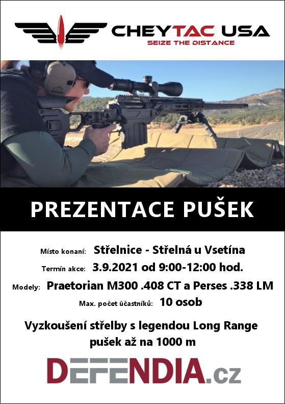 Prezentace odstřelovacích pušek CHEYTAC