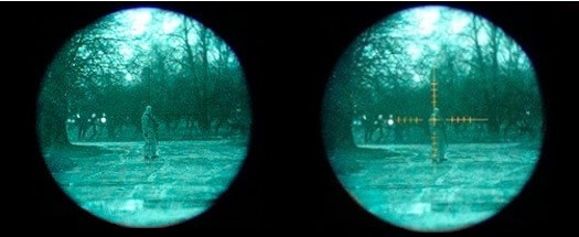 Puškohled s nočním viděním