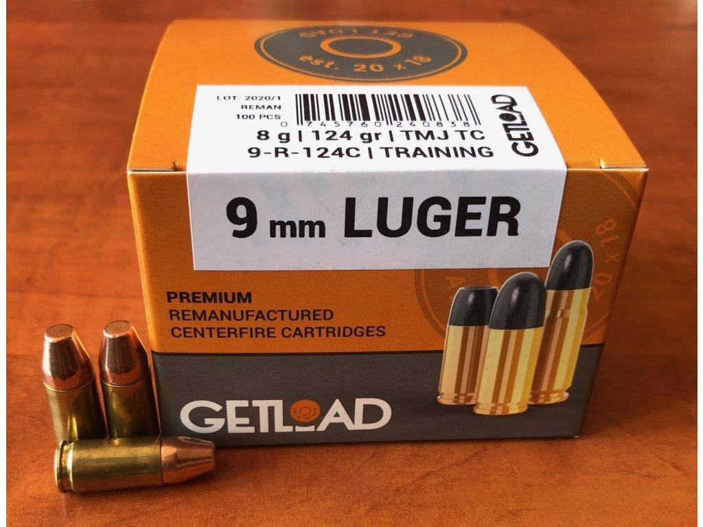 Střelivo Getload 9 mm Luger (9x19) TMJ TC 124gr
