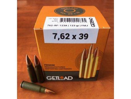 Střelivo Getload 7,62x39 FMJ 123gr