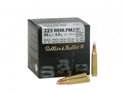 Střelivo S&B .223 REM FMJ (55gr) CIP, sypané
