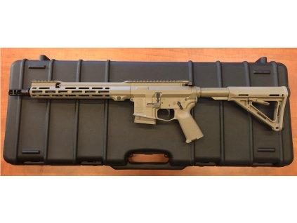 """Samonabíjecí puška Antreg ARS M4s MLOK PRO, LW hlaveň 12,5"""", barva FDE"""