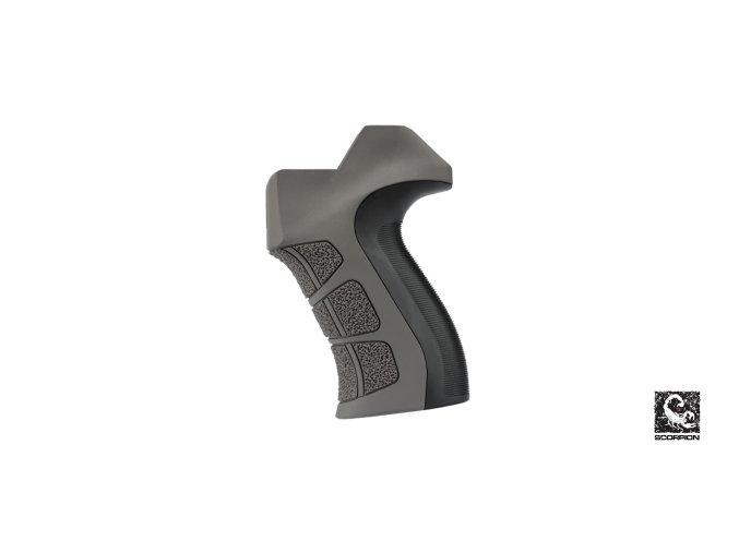 x2 ar 15 grip in destroyer gray 2d6