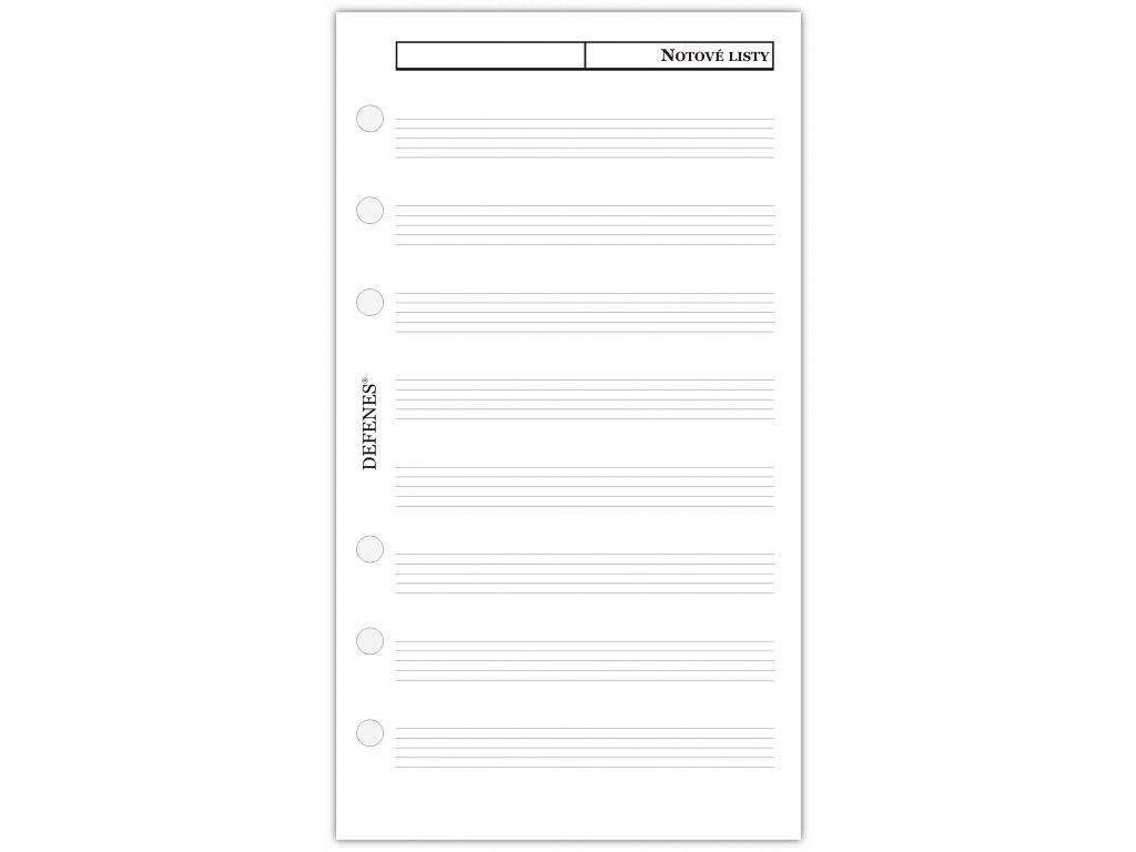 DEFENES Notové listy A6, bílý papír, 40 listů