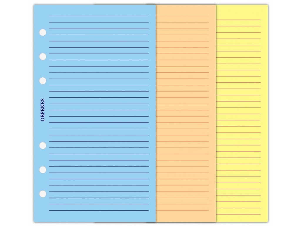 DEFENES Linkované barevné papíry